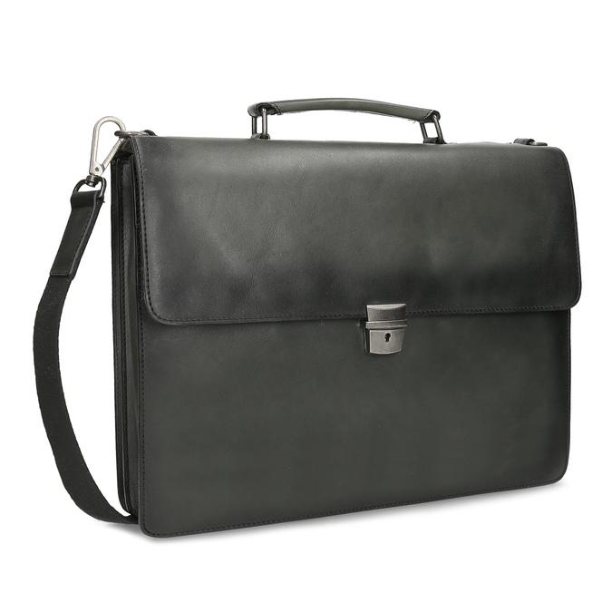 Pánská šedá kožená aktovka bata, šedá, 964-2613 - 13