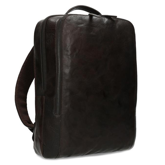 Hnědý kožený pánský batoh bata, hnědá, 964-4328 - 13