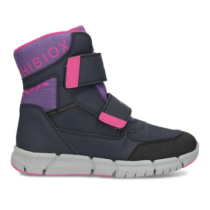 Dětská zimní obuv s růžovými detaily geox, modrá, 399-9314 - 19