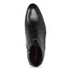 Kožená pánská černá kotníčková obuv conhpol, černá, 894-6600 - 17