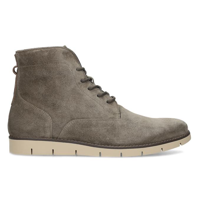 Béžová pánská kožená kotníčková obuv flexible, béžová, 823-8701 - 19