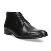 Černá pánská kožená kotníčková obuv conhpol, černá, 894-6603 - 13