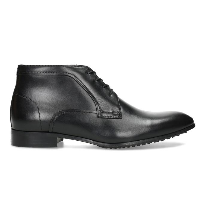 Černá pánská kožená kotníčková obuv conhpol, černá, 894-6603 - 19