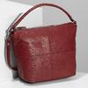 Červená dámská kožená Hobo kabelka bata, červená, 964-5233 - 17
