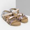 Dětské kožené sandály na suchý zip mini-b, zlatá, 466-8611 - 26