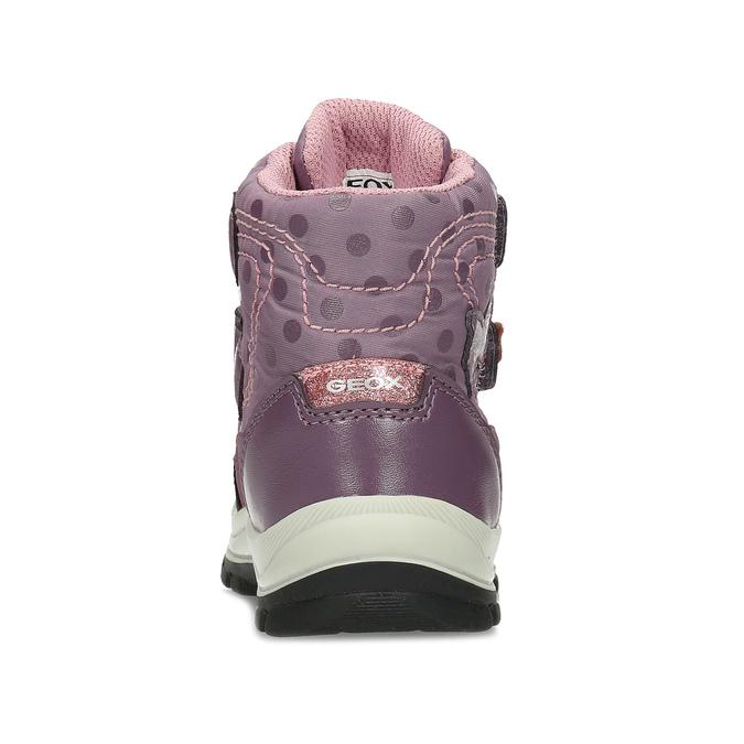 Fialová dětská zimní obuv na suché zipy geox, fialová, 199-5136 - 15
