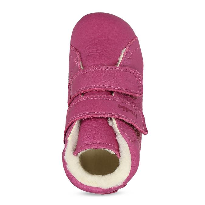 Růžová kožená dětská zimní obuv froddo, růžová, 124-5606 - 17
