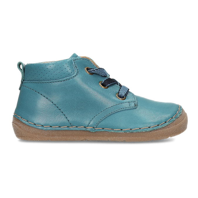 Modrá dětská kožená kotníčková obuv froddo, modrá, 114-9607 - 19