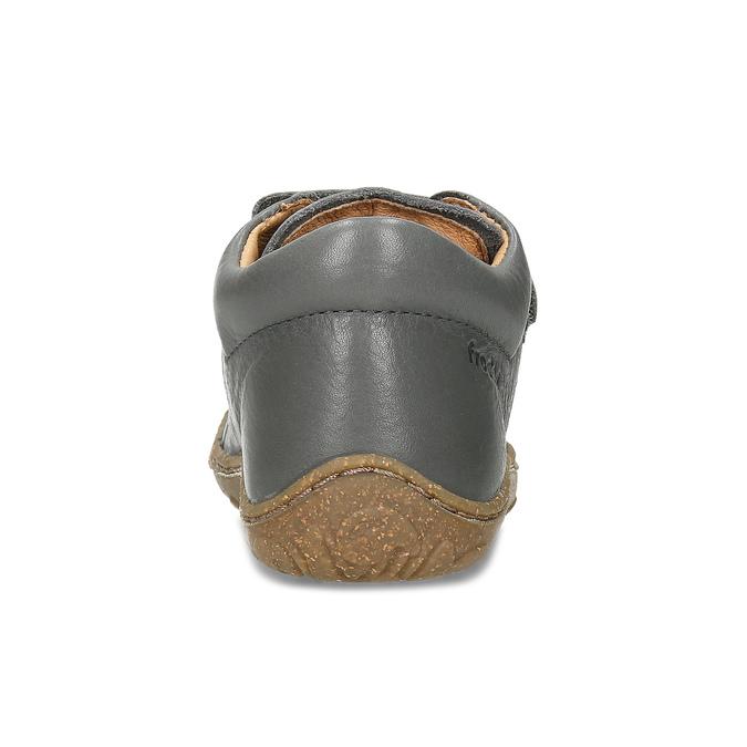 Šedé dětské kožené tenisky na suché zipy froddo, šedá, 114-2608 - 15