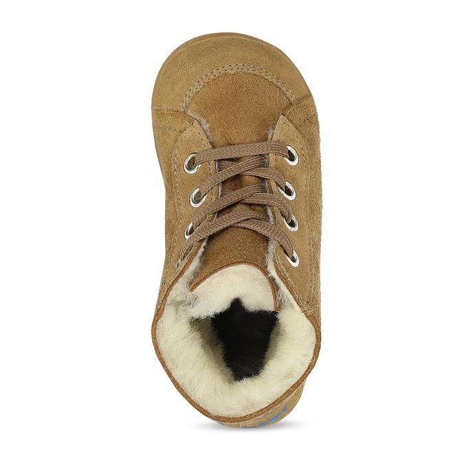 Dětská kožená zimní obuv se zateplením richter, hnědá, 123-8613 - 17