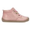 Dětská růžová kotníčková kožená obuv froddo, růžová, 124-5607 - 19