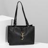 Černá dámská kabelka s kovovou sponou gabor, černá, 961-6129 - 17