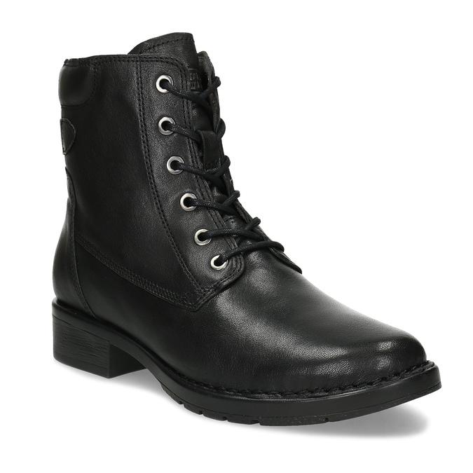 Černá kožená zimní obuv se zateplením camel-active, černá, 696-6592 - 13