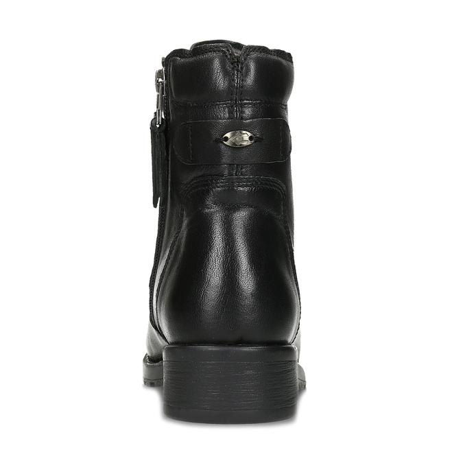 Černá kožená zimní obuv se zateplením camel-active, černá, 696-6592 - 15