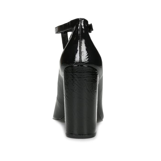 Kožené dámské lodičky na stabilním podpatku calvin-klein, černá, 728-6315 - 15