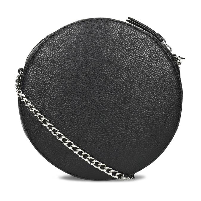 Kulatá černá Crossbody kabelka s řetízkem bata, černá, 964-4628 - 16