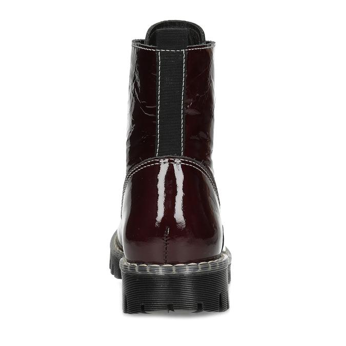Kožené vínové lakované Worker Boots bata-125th-anniversary, červená, 536-5604 - 15