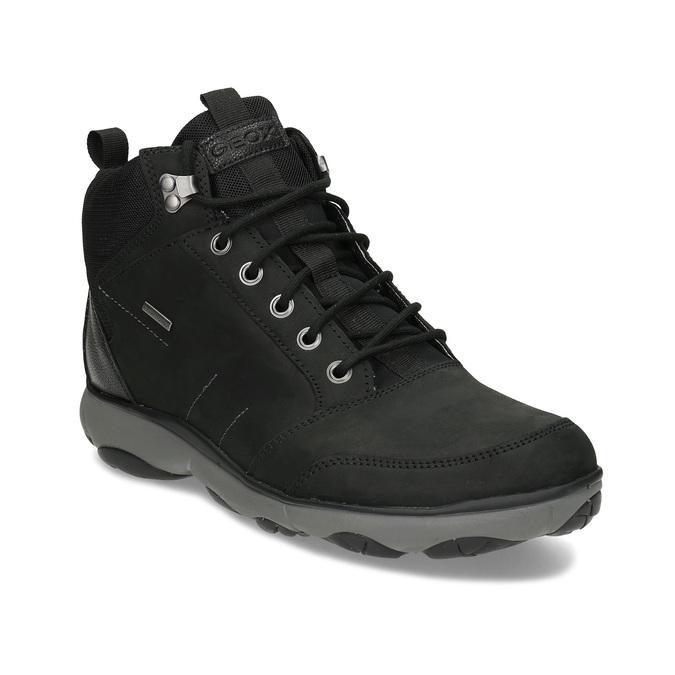 Kotníčková pánská kožená obuv v Outdoor stylu geox, černá, 846-6368 - 13