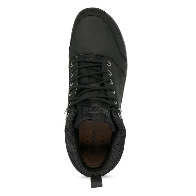 Kotníčková pánská kožená obuv v Outdoor stylu geox, černá, 846-6368 - 17