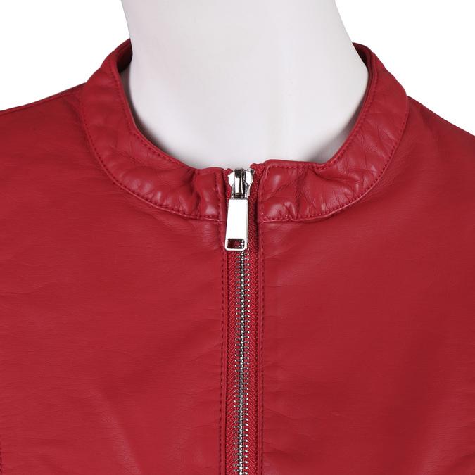 Červená dámská bunda s prošitím bata, červená, 971-5247 - 16