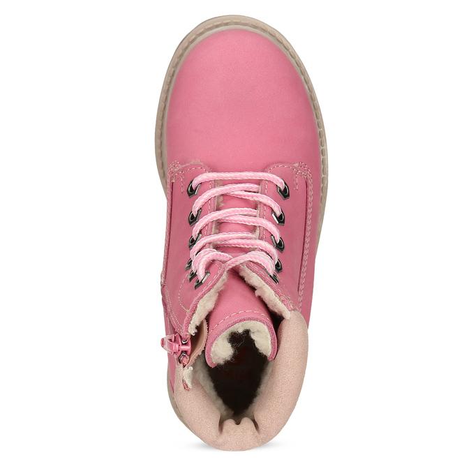 Dětské růžové kožené Worker Boots weinbrenner, růžová, 296-5604 - 17