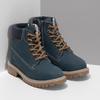 Dětské modré kožené Worker Boots weinbrenner, modrá, 296-9604 - 26