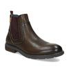 Kožená pánská kotníčková Chelsea obuv pikolinos, hnědá, 896-4816 - 13