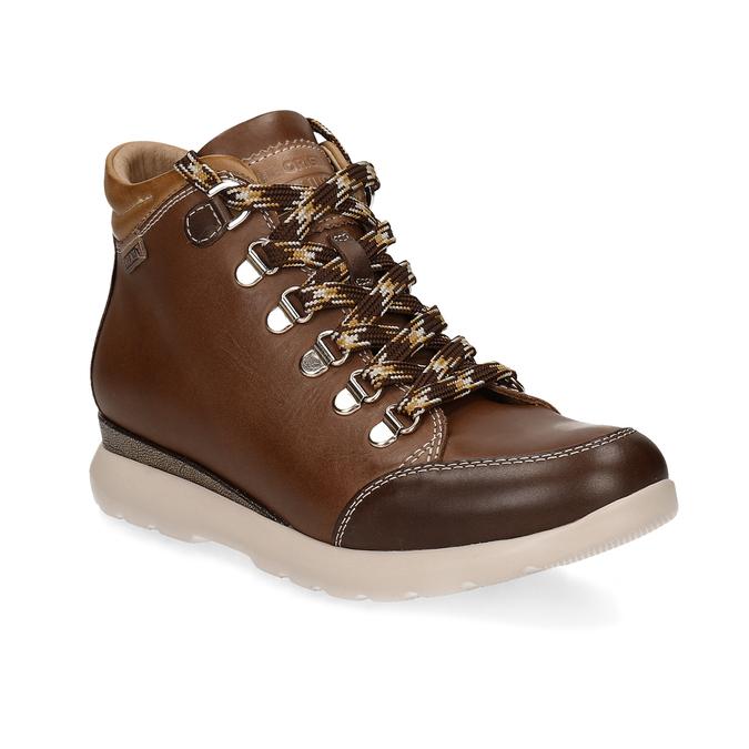 Dámská hnědá kožená zimní obuv pikolinos, hnědá, 596-4616 - 13
