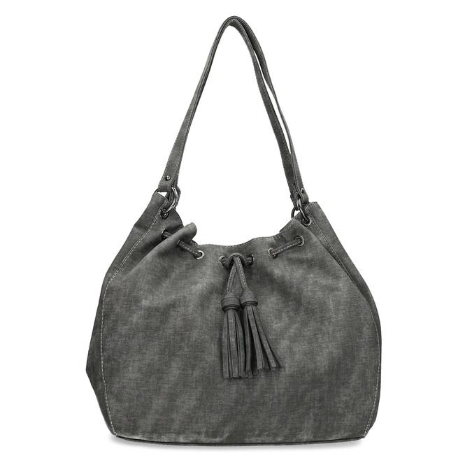 Dámská šedá kabelka se střapci gabor, šedá, 961-2106 - 26