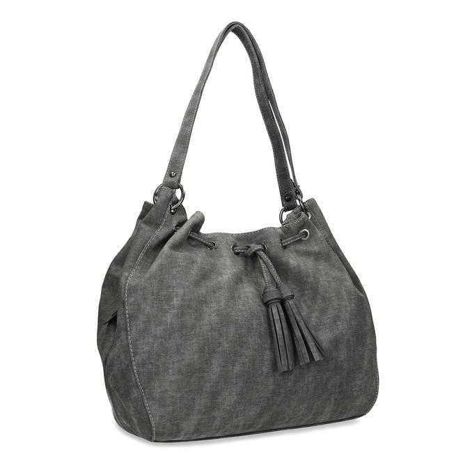 Dámská šedá kabelka se střapci gabor, šedá, 961-2106 - 13