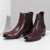 Dámská vínová kožená Chelsea obuv bata, červená, 594-5448 - 16