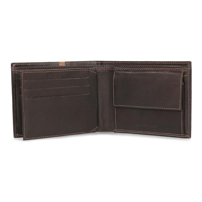 Hnědá pánská kožená peněženka s prošitím bata, hnědá, 944-4624 - 15