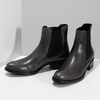 Tmavě khaki dámská kožená Chelsea obuv bata, šedá, 594-3448 - 16