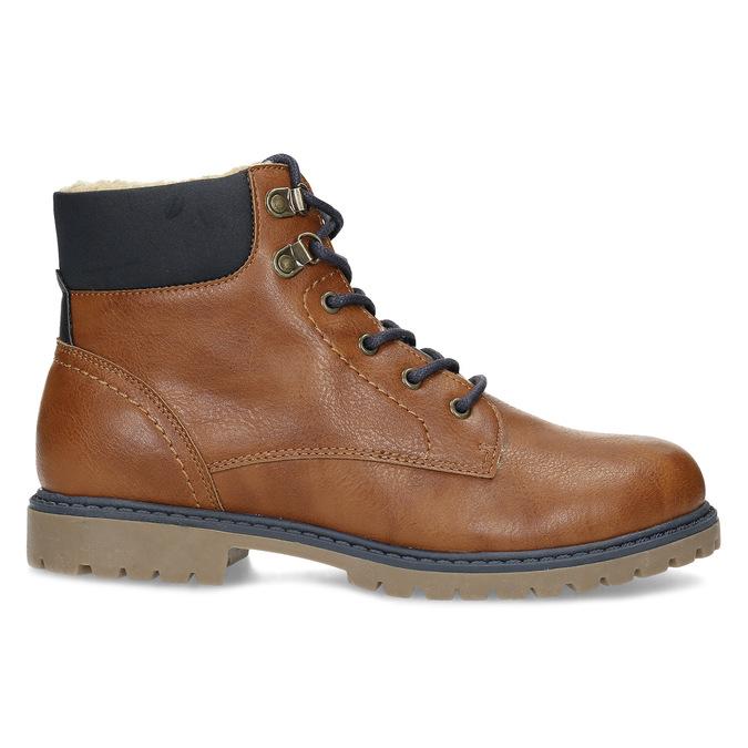 Hnědá dětská kotníčková obuv s prošitím mini-b, hnědá, 491-3667 - 19
