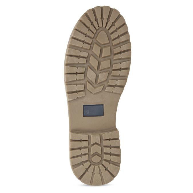 Hnědá dětská kotníčková obuv s prošitím mini-b, hnědá, 491-3667 - 18