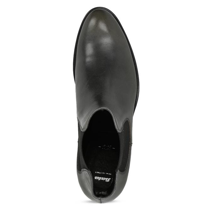 Tmavě khaki dámská kožená Chelsea obuv bata, šedá, 594-3448 - 17