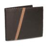 Hnědá pánská kožená peněženka s prošitím bata, hnědá, 944-4624 - 13