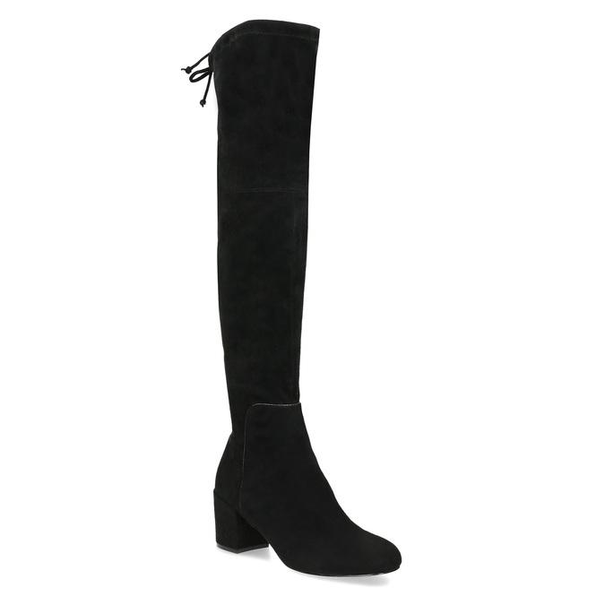 Černé dámské kozačky na stabilním podpatku insolia, černá, 699-6602 - 13