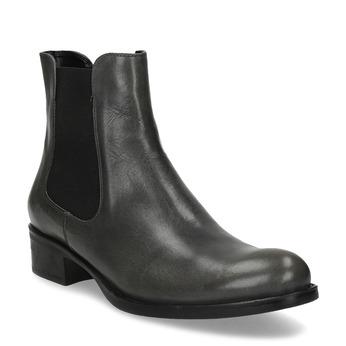 Tmavě khaki dámská kožená Chelsea obuv bata, šedá, 594-3448 - 13