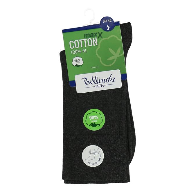 Tmavě šedé pánské bavlněné ponožky bellinda, šedá, 919-2714 - 13