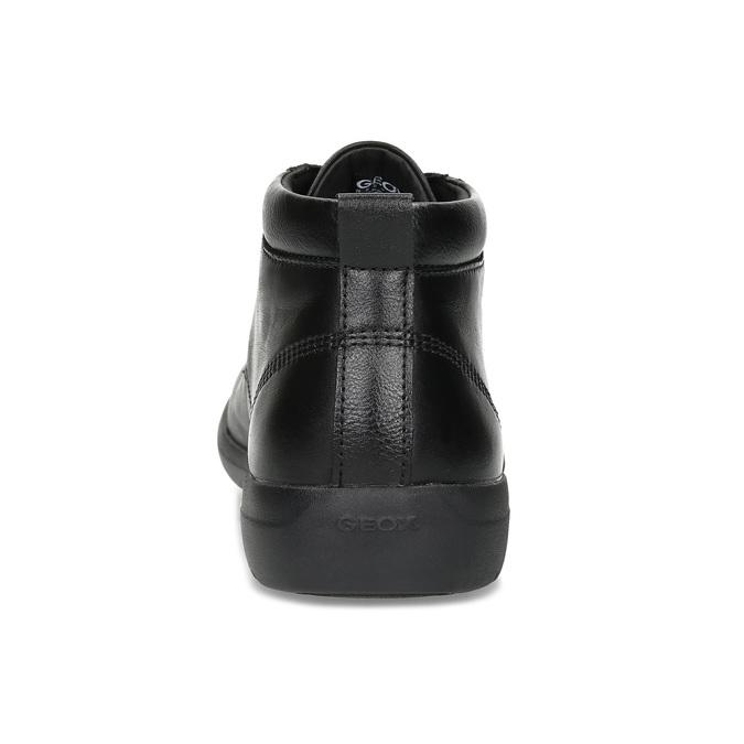 Černá pánská kotníčková kožená obuv geox, černá, 826-6352 - 15