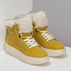 Žlutá dámská kožená zimní obuv geox, žlutá, 596-8542 - 26