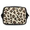 Kožená Crossbody kabelka s leopardím vzorem bata, béžová, 964-0629 - 26