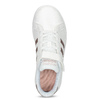 Dětské bílé tenisky se zlatými detaily adidas, bílá, 301-1259 - 17