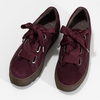 Vínové dámské tenisky z broušené kůže gabor, červená, 543-5101 - 16