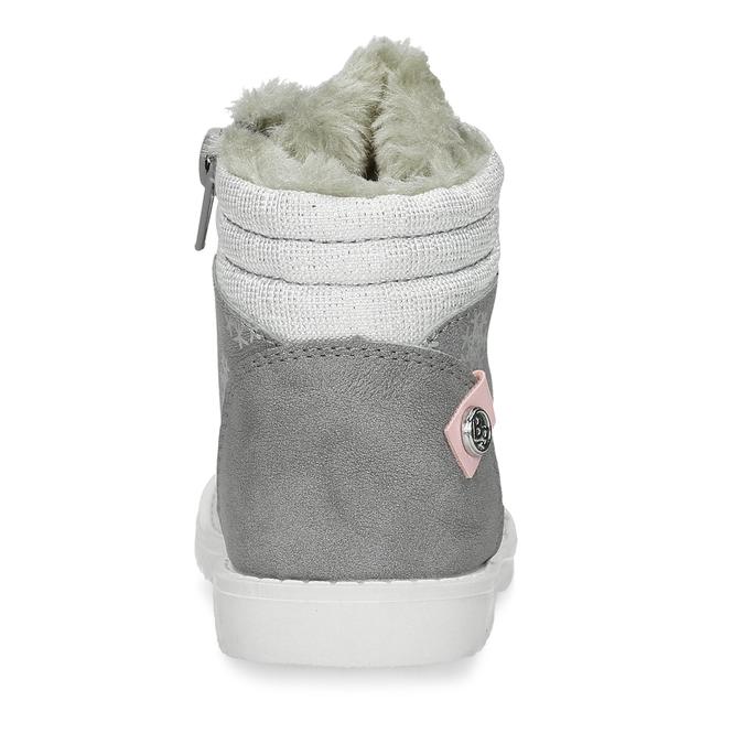 Béžová dětská zimní obuv s kožíškem bubblegummers, šedá, 191-2604 - 15