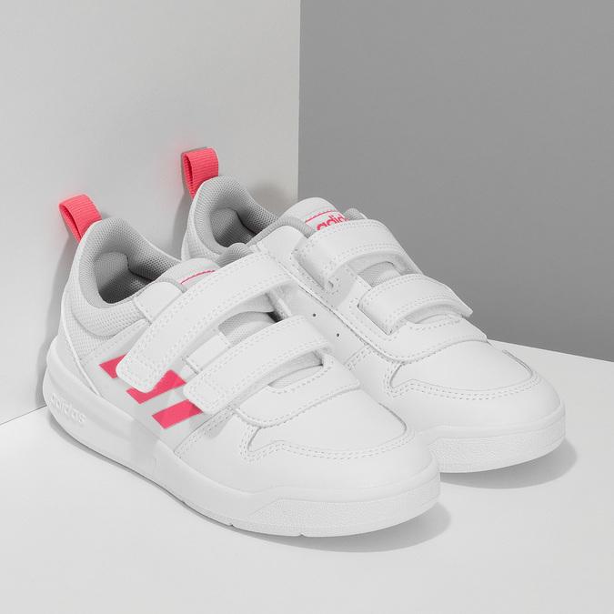 Bílé dětské tenisky na suché zipy adidas, bílá, 301-1270 - 26