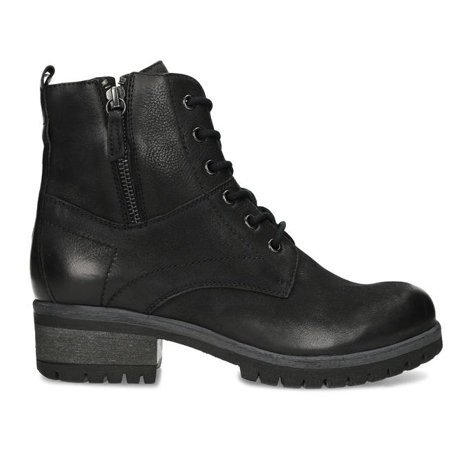 Kožená dámská kotníčková zimní obuv bata, černá, 696-6603 - 19