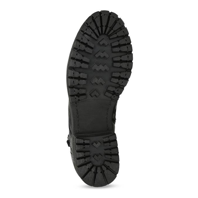 Kožená dámská kotníčková zimní obuv bata, černá, 696-6603 - 18