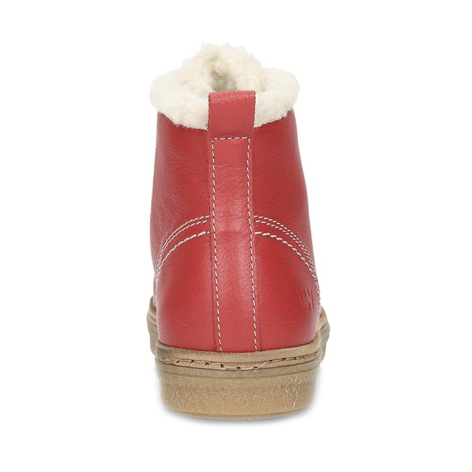 Kožená červená kotníčková obuv se zateplením weinbrenner, červená, 594-5600 - 15